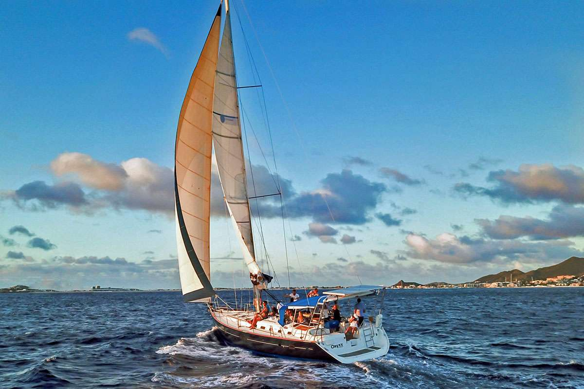 53' Beneteau S-Y catamaran ORYXX at sail