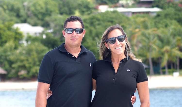 Captain Jacek and Chef-Hostess Maya of 58ft Wave Catamaran SANTA ANA