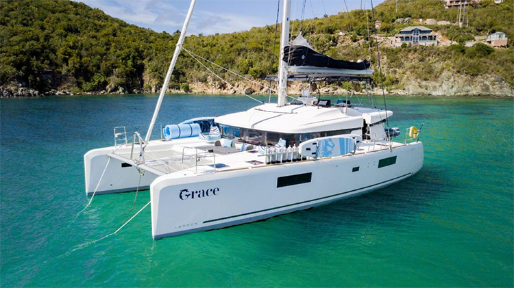 52ft Lagoon sailing yacht catamaran GRACE is based in the Caribbean