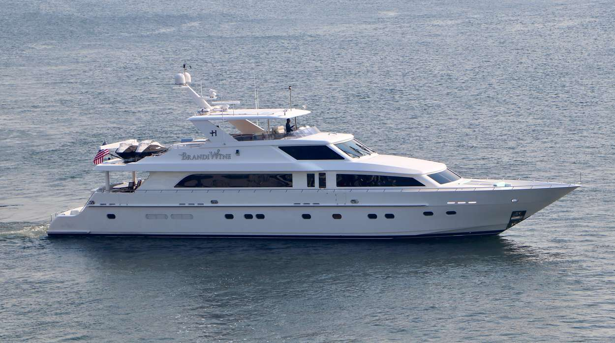 114ft Hargrave motor yacht BRANDI WINE is available in the Bahamas, Caribbean and North America