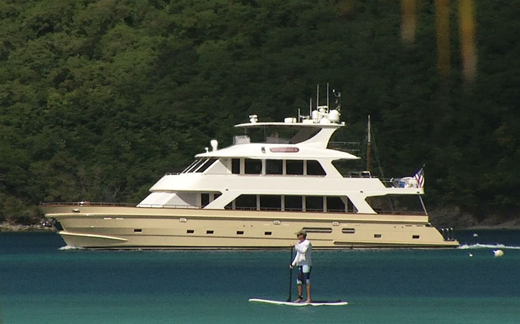 87ft President motor yacht MAGICAL DAYS (previously named Watershed II) is available in the Bahamas and North America