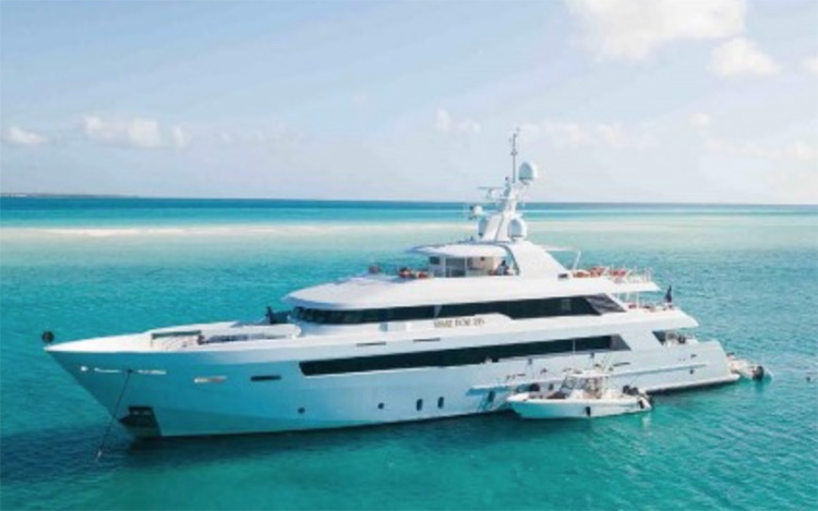 151ft Delta Marine motor yacht TIME FOR US charters in the Bahamas and North America