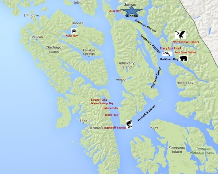 Alaska cruising itinerary