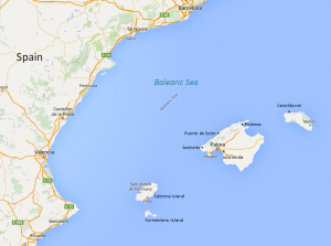 Balearic Islands Yacht Charter Itinerary Map