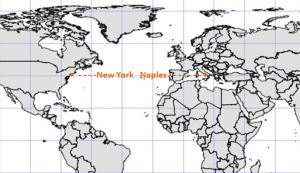 NYC Naples Latitude Map