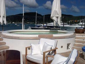 yacht deck jacuzzi