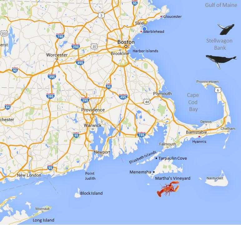 Nantucket Yacht Charter Map