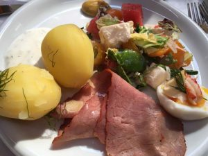 BeefPotatoes_LobsterSalad_sail yacht Ichiban menu