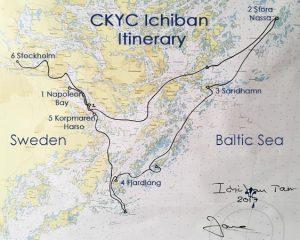 CKYC_Ichiban_Itinerary_Map Sailing Sweden's Archipelago
